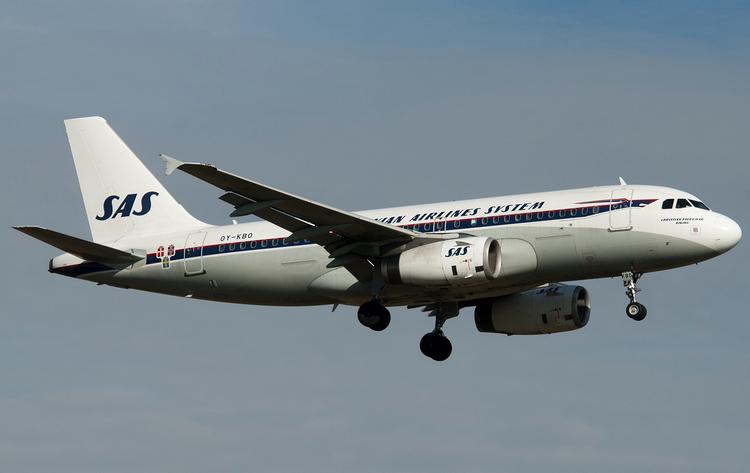 самолет Scandinavian Airlines System
